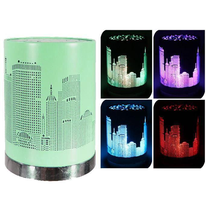 Lampe led couleur changeante veilleuse city vert achat vente lampe led ve - Lampe couleur changeante ...