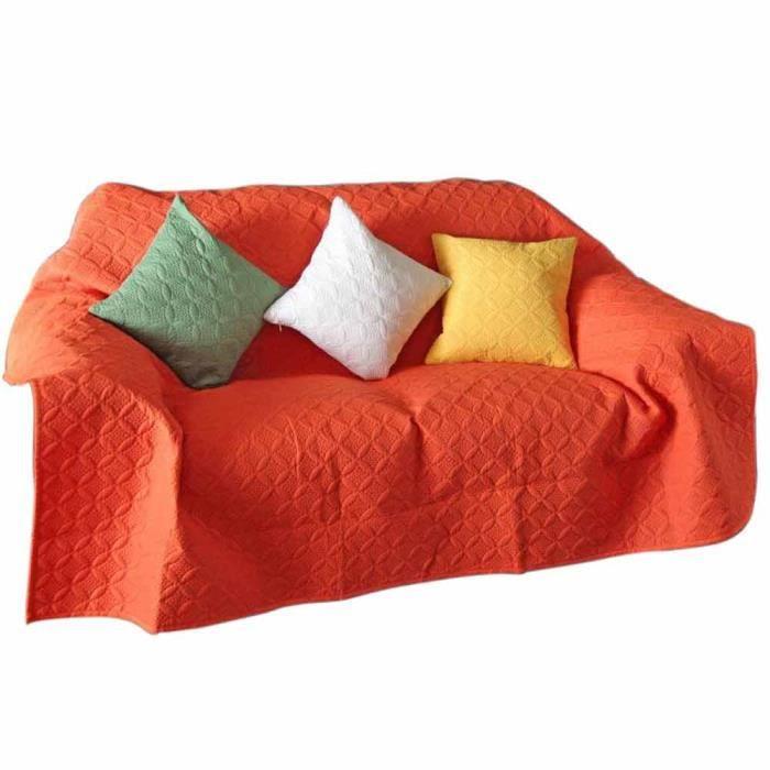 couvre lit matelass gaufr ultrasonique orange 240 x 250 cm achat vente jet e de lit. Black Bedroom Furniture Sets. Home Design Ideas