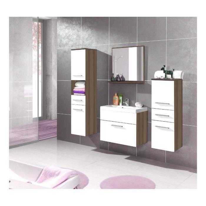 Justhome lupo 1 ensemble salle de bain en bois de prune blanc mat achat vente salle de - Ensemble salle de bain bois ...