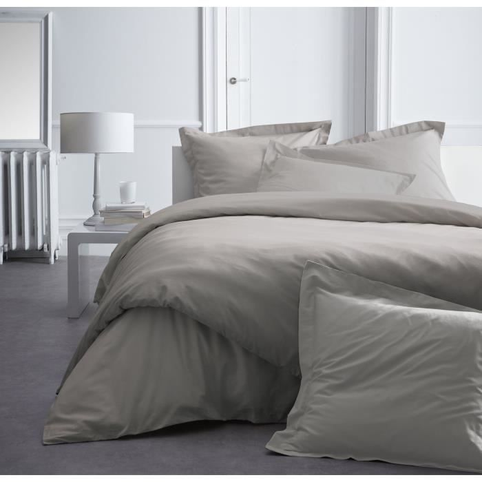Today premium housse de couette percale 240 mastic achat - Housse couette percale ...