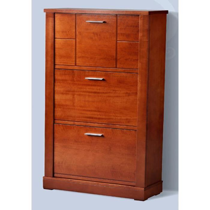meuble chaussures avec 3 portes abattantes en mdf 133 x 60 x 24 cm achat vente meuble. Black Bedroom Furniture Sets. Home Design Ideas