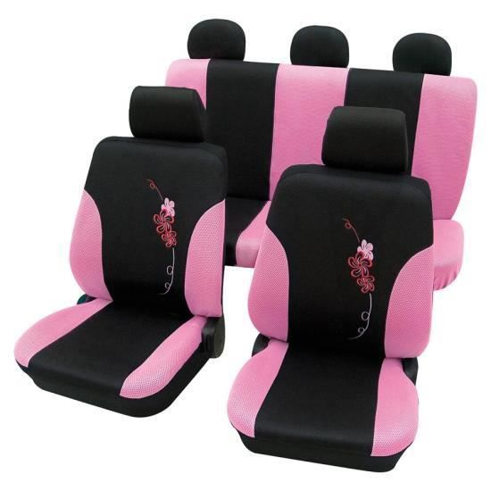 Housses de si ge femme rose et noir fleur opel kadett for Housse voiture rose