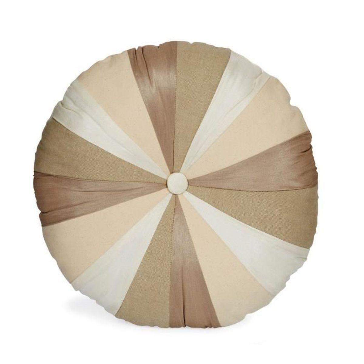 Patchy coussin rond patchwork multicolore d40cm multicolore achat vente coussin cdiscount - Coussin rond 40 cm ...