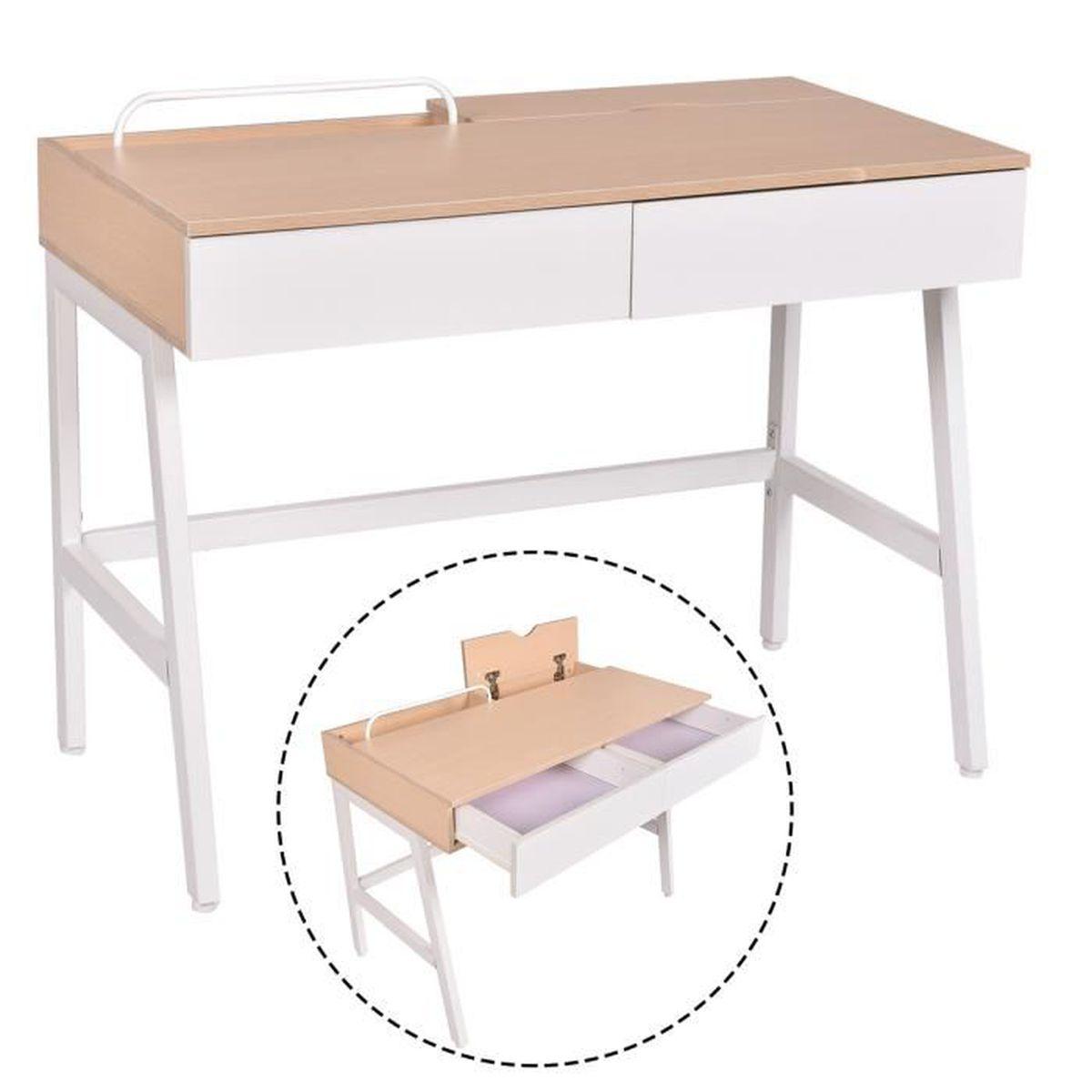 Bureau informatique table de travail ordinateur meuble de for Table de travail bureau