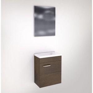 Meuble lave main faible profondeur ch ne fonc avec miroir achat vente - Lavabo faible profondeur ...