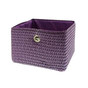 Panier rangement violet achat vente panier rangement violet pas cher cd - Panier pour meuble cube ...