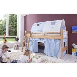 lit mezzanine enfant mi hauteur achat vente lit mezzanine enfant mi hauteur pas cher cdiscount. Black Bedroom Furniture Sets. Home Design Ideas