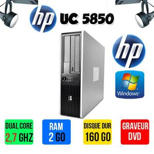 UNITÉ CENTRALE  UNITE CENTRALE  HP 5850 AMD DUAL CORE  2,7GHZ 2GO