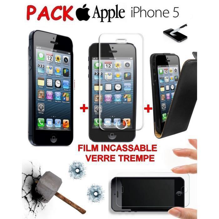 pack verre trempe apple iphone 5 film etui achat smartphone pas cher avis et meilleur. Black Bedroom Furniture Sets. Home Design Ideas