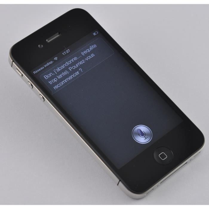 iphone 4 noir 32go pas cher achat smartphone pas cher avis et meilleur prix cdiscount. Black Bedroom Furniture Sets. Home Design Ideas