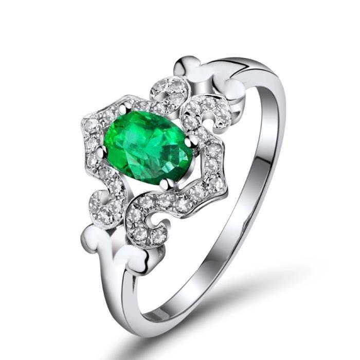 bague or emeraude et diamant taille 44 62 achat vente bague anneau bague or. Black Bedroom Furniture Sets. Home Design Ideas