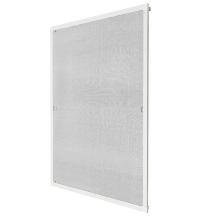 Moustiquaire pour fen tre cadre fixe en aluminium 80x100 for Fenetre fixe alu