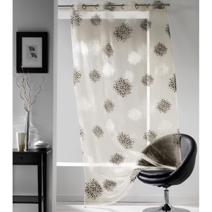 rideau voile 140x240 cm oeillets snow ivoire achat vente voilage polyester nylon cdiscount. Black Bedroom Furniture Sets. Home Design Ideas