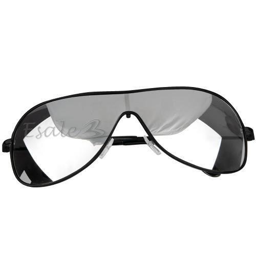 uv400 lunette de soleil miroir noir pour homme noir. Black Bedroom Furniture Sets. Home Design Ideas