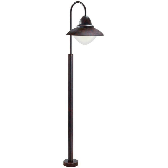 Borne sidney borne d 39 ext rieur bois achat vente for Lampe de terrasse sur pied