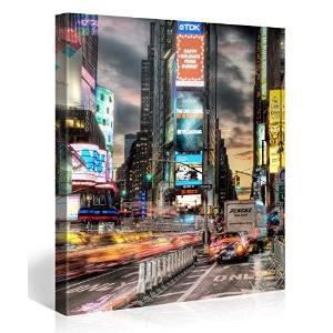 Tableau deco moderne times square new york taxi achat for Deco taxi new york