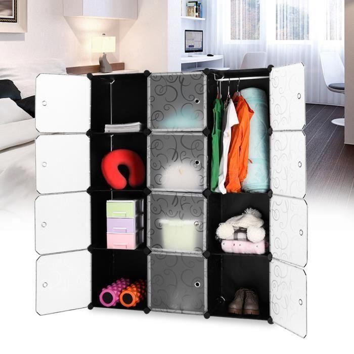 finether 12 cubes armoire penderie plastique etag 232 res cabine stockage modulable rangement fleur