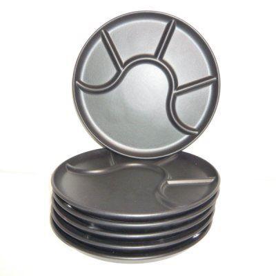 6 assiettes fondue bourguignonne de 25 cm ma achat vente service complet cdiscount. Black Bedroom Furniture Sets. Home Design Ideas