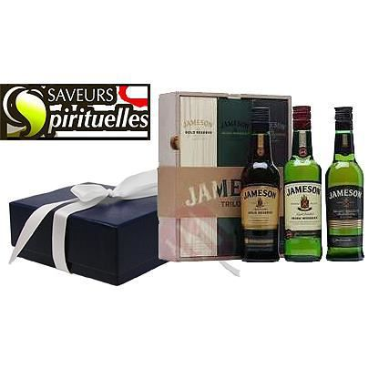 whiskey jameson trilogy luxueux coffret cadeau achat vente whiskey jameson trilogy lux. Black Bedroom Furniture Sets. Home Design Ideas