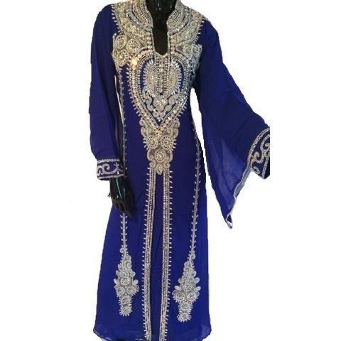 robe de dubai bleue roi bleu roi   achat vente robe robe