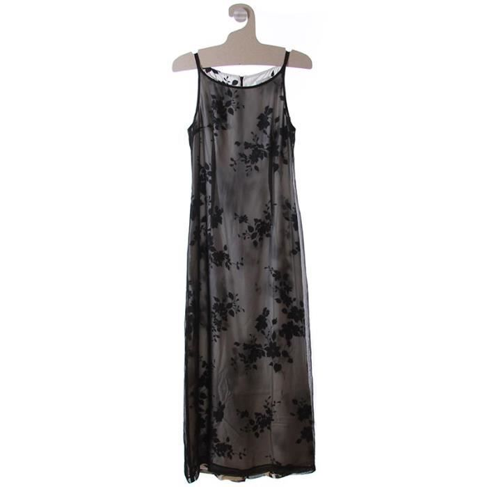 robe longue caroll robes robe de noir achat vente. Black Bedroom Furniture Sets. Home Design Ideas