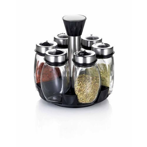 table cook porte epices 6 pots tourniquet ino achat. Black Bedroom Furniture Sets. Home Design Ideas