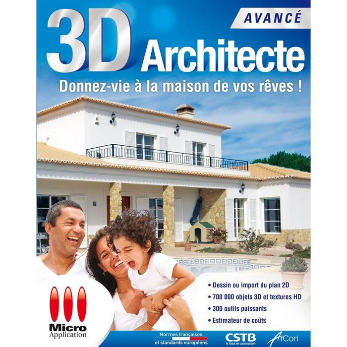 3d architecte avanc prix pas cher cdiscount. Black Bedroom Furniture Sets. Home Design Ideas