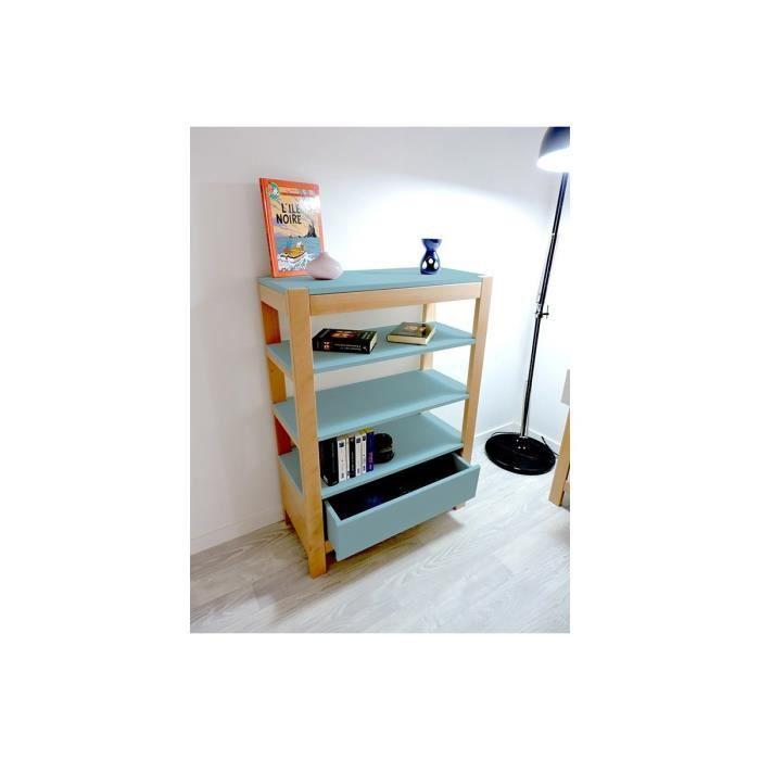 etag re hauteur 110cm tiroir berlin bleu pastel achat. Black Bedroom Furniture Sets. Home Design Ideas