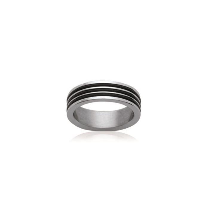 bague anneau acier taille 62 achat vente alliance solitaire bague anneau acier taille 6. Black Bedroom Furniture Sets. Home Design Ideas