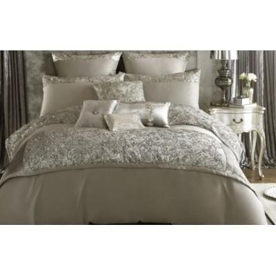 kylie minogue alex 39 s silver literie king size contient 2 taies d 39 oreiller coussins carr s et. Black Bedroom Furniture Sets. Home Design Ideas