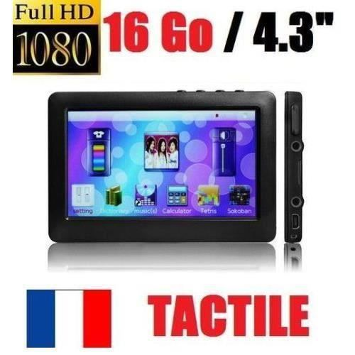 nouveau lecteur multim dia mp3 mp4 mp5 tactile full hd 16gb noir lecteur mp4 avis et prix. Black Bedroom Furniture Sets. Home Design Ideas