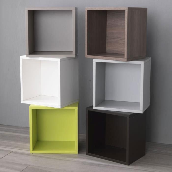 cube libera 0 71 q de pezzani couleur taupe achat vente meuble tag re cube taupe libera 0. Black Bedroom Furniture Sets. Home Design Ideas