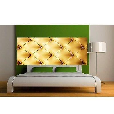 papier peint t te de lit capitonn or 3620 dimensions 200x78cm achat vente papier peint. Black Bedroom Furniture Sets. Home Design Ideas