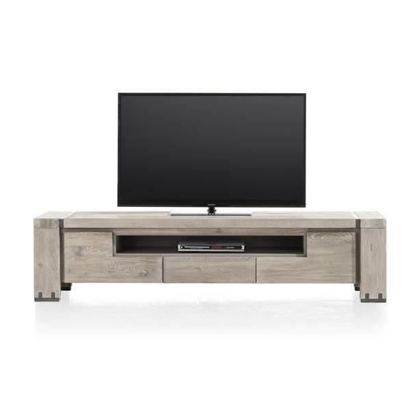 Meuble tv 190 cm orme massif avola h h achat vente for H h createur de meubles