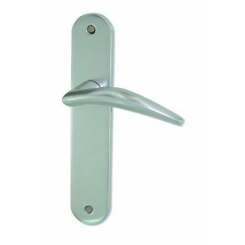 Dt 2000 602610 poign e de porte sur plaque chamonix for Poignee porte exterieure maison