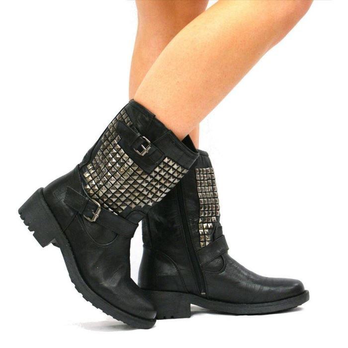 Low Boots Cloutées Achat / Vente Low Boots Cloutées pas cher