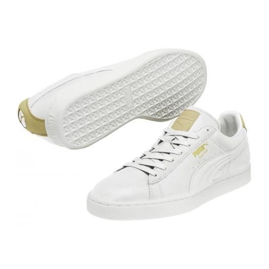 chaussures puma suede classic citi blanc basket