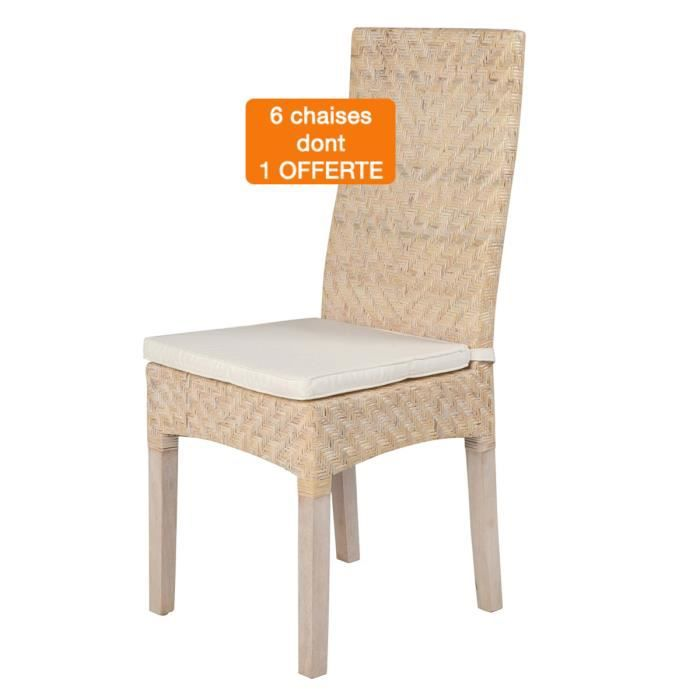 lot 6 chaises ibiza blanches rotin achat vente chaise blanc cdiscount. Black Bedroom Furniture Sets. Home Design Ideas