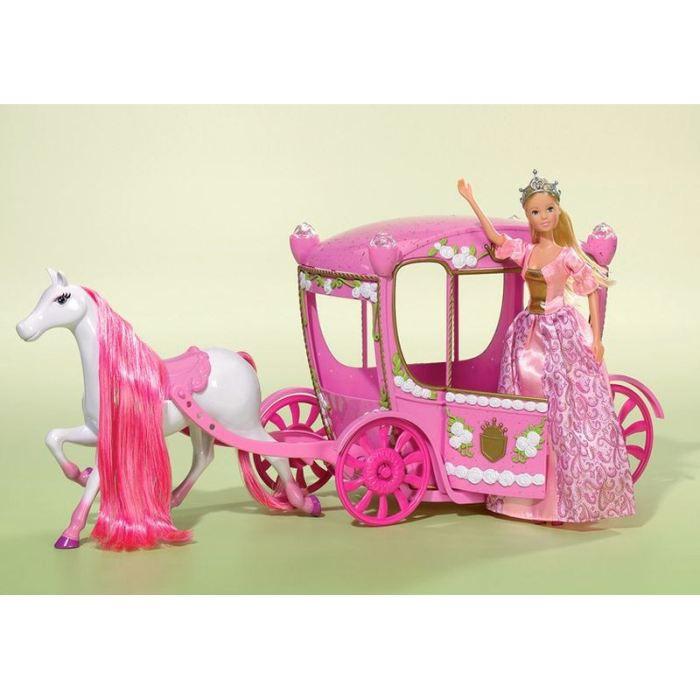 Steffi love et son carrosse cheval achat vente poup e cdiscount - Carrosse de princesse ...