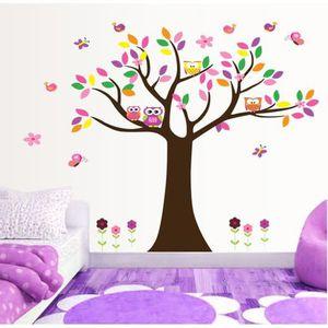 stickers arbre et hiboux enfant achat vente stickers arbre et hiboux enfant pas cher cdiscount. Black Bedroom Furniture Sets. Home Design Ideas