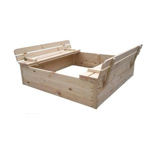 bac a sable bois avec couvercle achat vente jeux et jouets pas chers. Black Bedroom Furniture Sets. Home Design Ideas