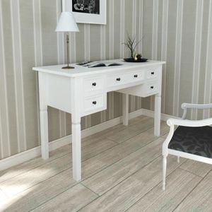 Bureau blanc romantique achat vente bureau blanc - Bureau style romantique ...