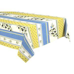 nappe tissu bleu achat vente nappe tissu bleu pas cher cdiscount. Black Bedroom Furniture Sets. Home Design Ideas
