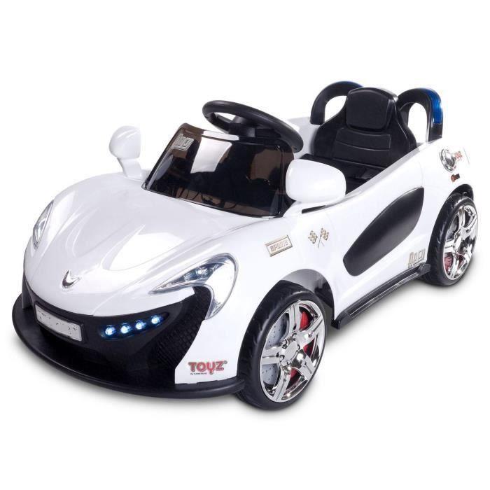 voiture electrique b b enfant blanche avec t l commande. Black Bedroom Furniture Sets. Home Design Ideas