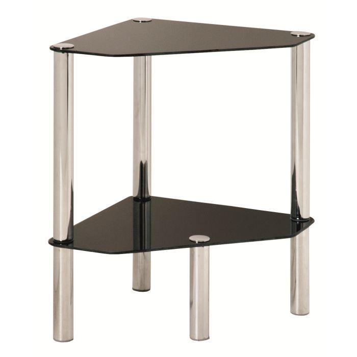 Etag re d 39 angle en verre 2 plateaux bergen achat vente - Protection d angle de table ...