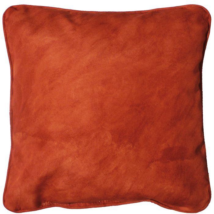 coussin 40x40 beton cire rouge brique achat vente coussin soldes d t cdiscount. Black Bedroom Furniture Sets. Home Design Ideas