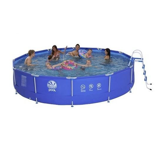 Piscine tubulaire ronde 450 x 90 cm achat vente for Piscine tubulaire ronde 2 44