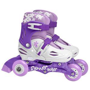 STAMP Rollers Fille Violet Triskate 2 en 1 Girl Ajustables 27 ? 30