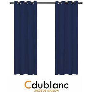 rideau bleu canard achat vente rideau bleu canard pas cher les soldes sur cdiscount. Black Bedroom Furniture Sets. Home Design Ideas