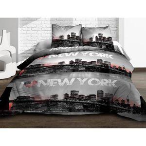 cdiscount linge de lit parure de lit newyork place with cdiscount linge de lit gallery of. Black Bedroom Furniture Sets. Home Design Ideas